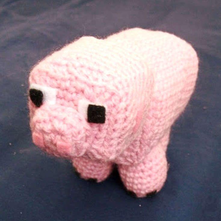 http://wixxl.com/minecraft-pig-pattern/ Minecraft Pig Amigurumi ...