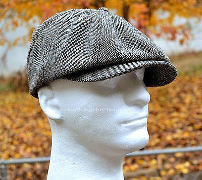 ed370993c85fb GREY TWEED Gatsby Cap Men Newsboy Ivy Hat Golf Wool Driving Cabbie Beret  Flat