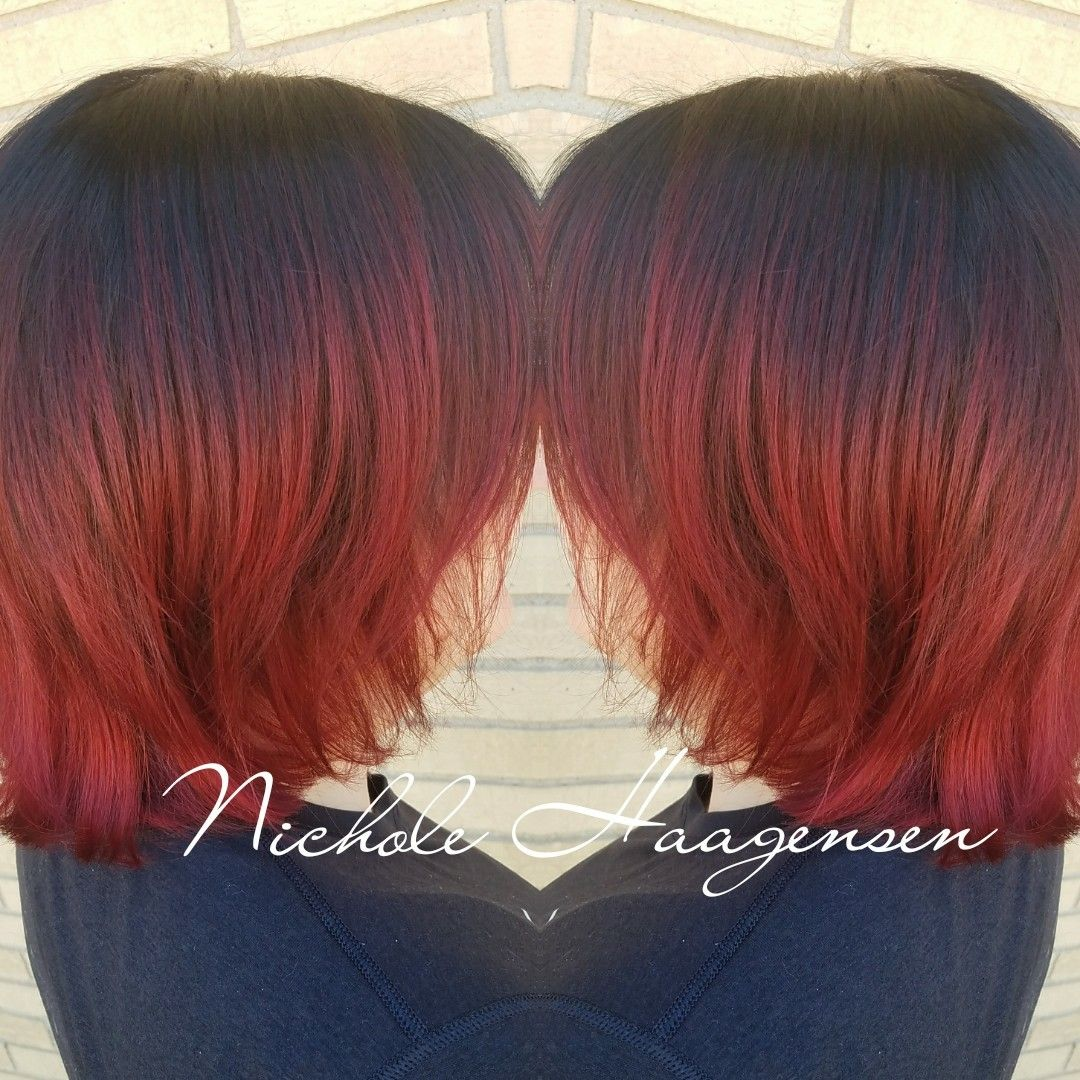 Tce thecuttingedgeracine shorthair redhair colormelting
