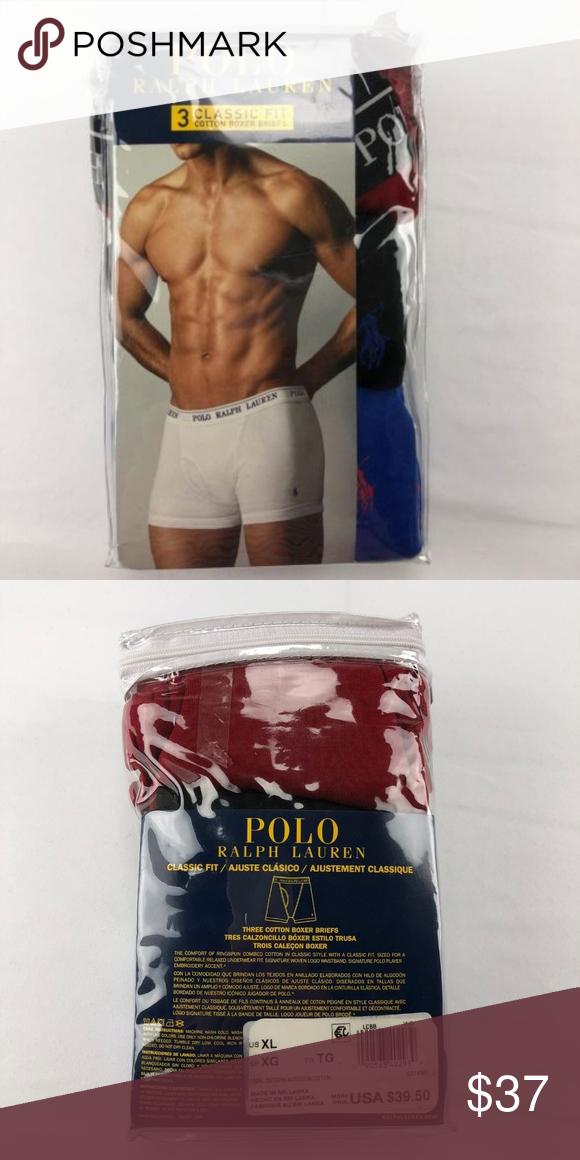 414eaba827 Polo Ralph Lauren Men 3 Pack Boxer Briefs XL (R19) Polo Ralph Lauren Men s