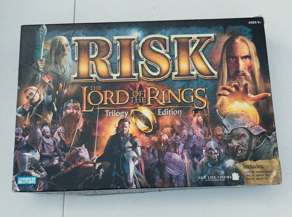 RISK LOTR LORD OF THE RINGS TRILOGY EDITION BOARD GAME