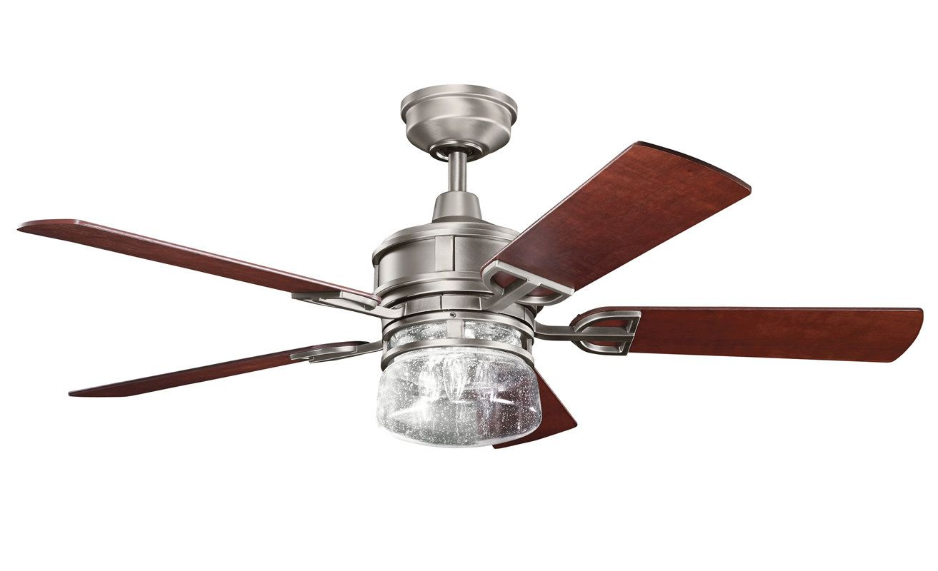 View The Kichler 300120 Lyndon 52 Ceiling Fan With 5 Blades