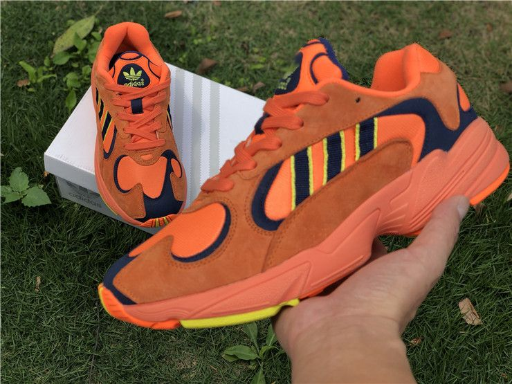 "69 Adidas Yung-1 ""Goku"" Hi-Res Orange Sneakers  f9eed6e75"