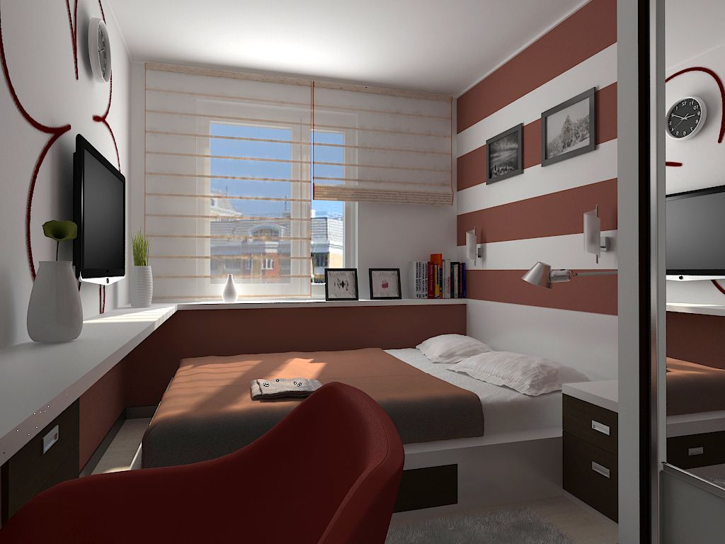 Very Small Bedroom 8 Sq M For Young Family Enjoy In