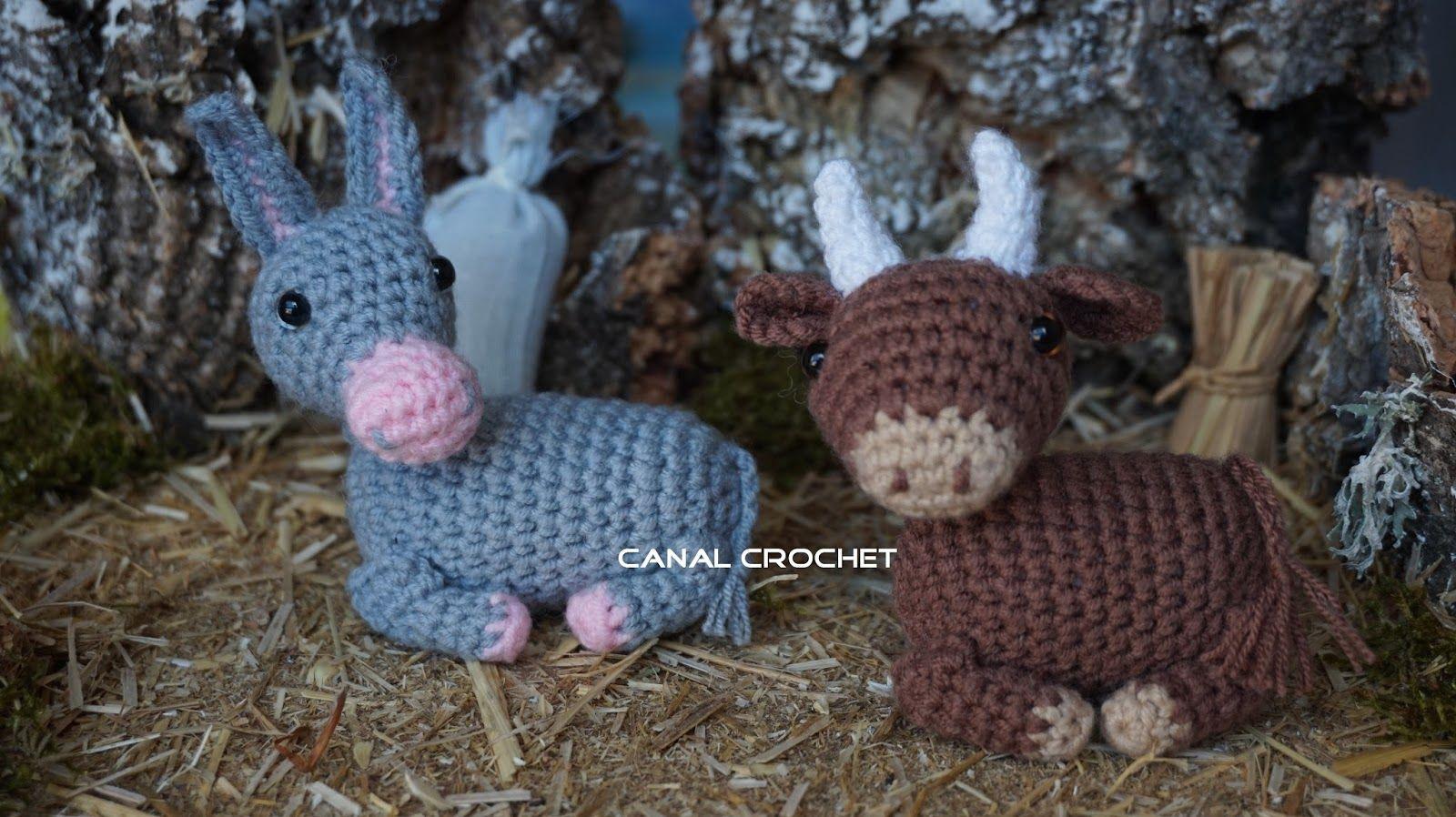 Amigurumi Navidad Nacimiento : Canal crochet buey y mula amigurumi patrón libre idee natale