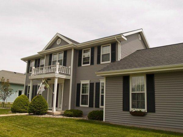 Mastic Harbor Grey Home Exteriors Grey Siding House