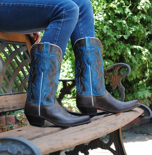 DOSADO DENIM TWO TONE CLASSIC COWGIRL BOOTS BY OLD WEST L1526  http://lovethoseboots.com/index.php/dosado-denim-two-tone-classic-cowgirl-boots-by-old-west-l1526.html