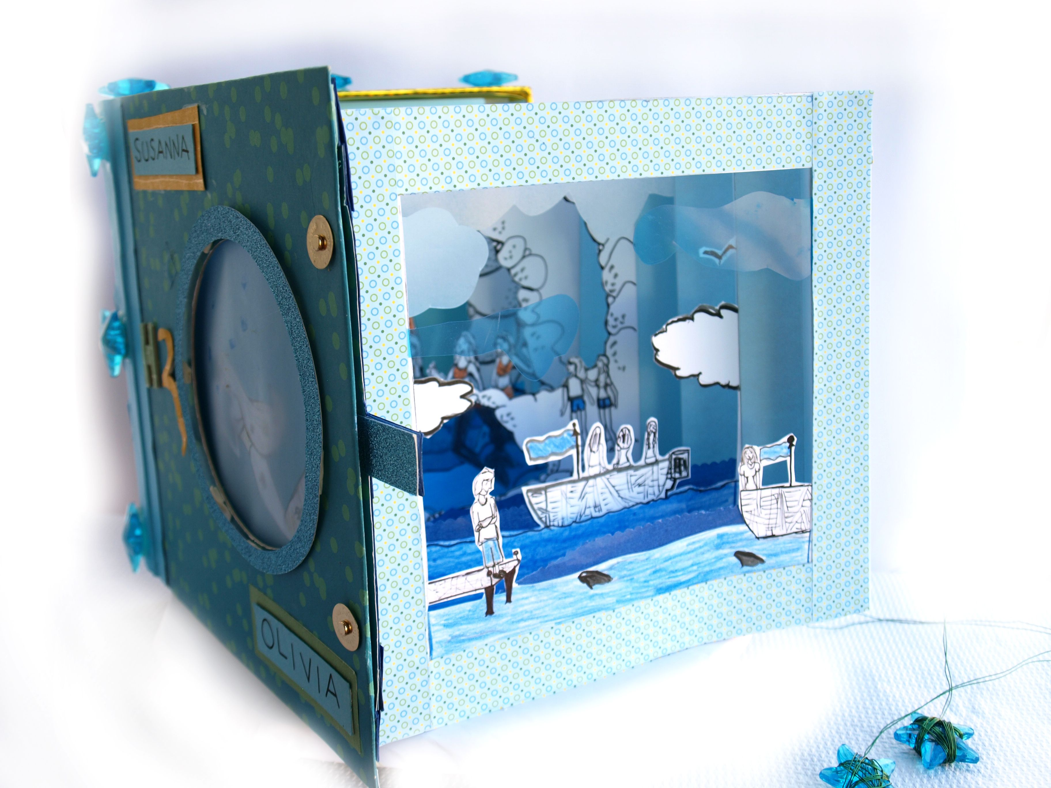 H2O Tunnel Book ispirato alla serie tv. Di Susanna Fierli e Olivia.