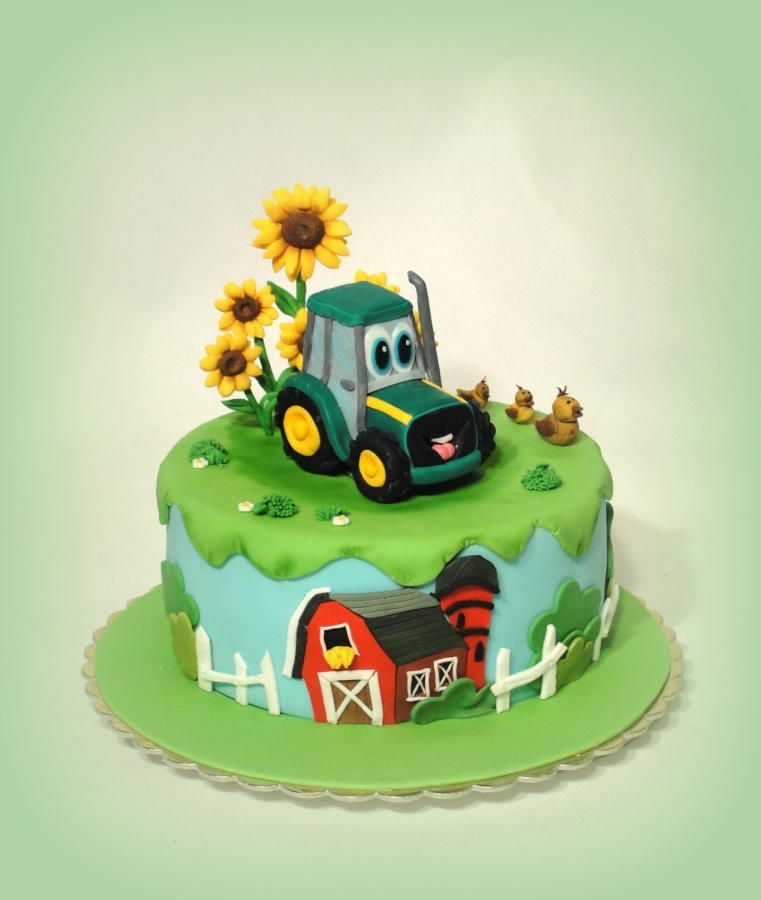 Tractor Cake Cake by Alll ferma Pinterest Tractor Cake and