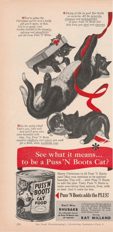 Good Housekeeping 1951 Magazine Ad Of Cat Kitten And Etsy In 2020 Magazine Ads Vintage Ads Good Housekeeping