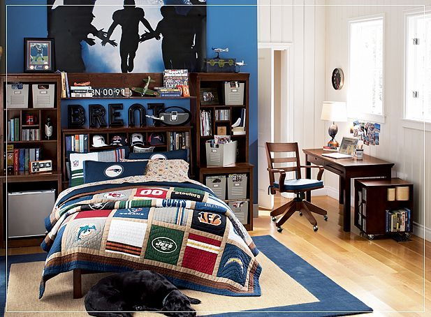 Teenage boys room   home   Pinterest   2!, Boys and Football pictures