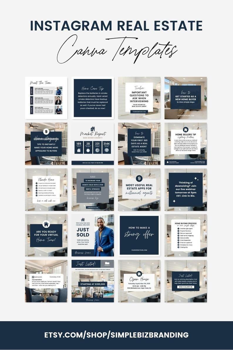 70+ Editable Instagram Posts for Realtors, Real Es