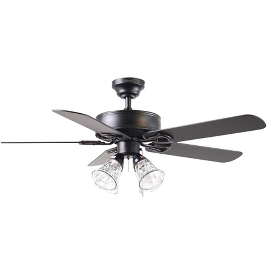 79 96 Harbor Breeze 52 In Springfield Matte Black Ceiling Fan With Light Kit At Lowes