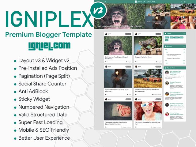 Igniplex Premium Blogger Template Igniel Belajar Tips Blog