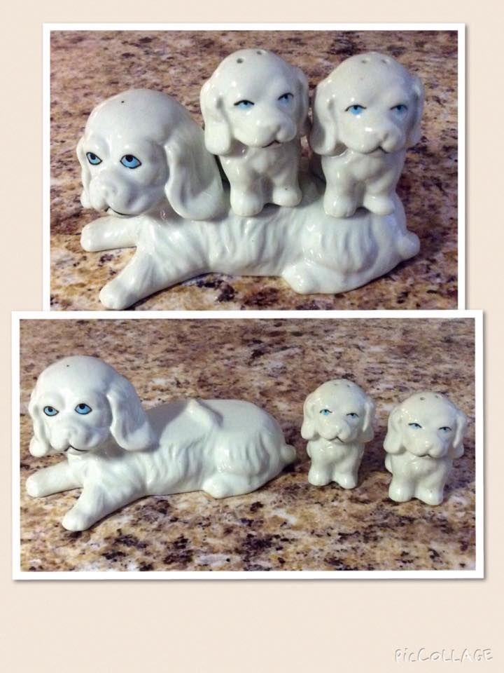 Item 30 Porcelain Spaniels Salt Pepper This Charming Porcelain