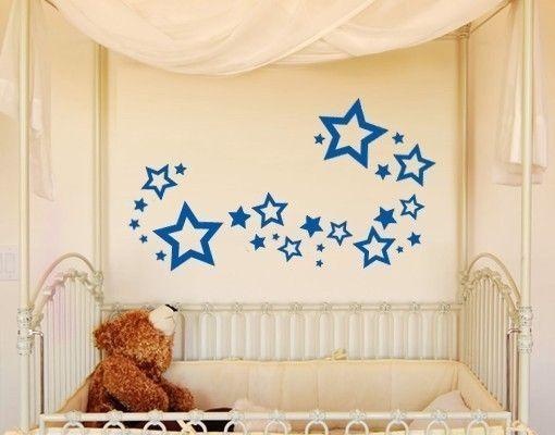 Wandtattoo Sterne Set Wandtattoos Kinderzimmer Wandtattoo-Sets - babyzimmer sterne photo