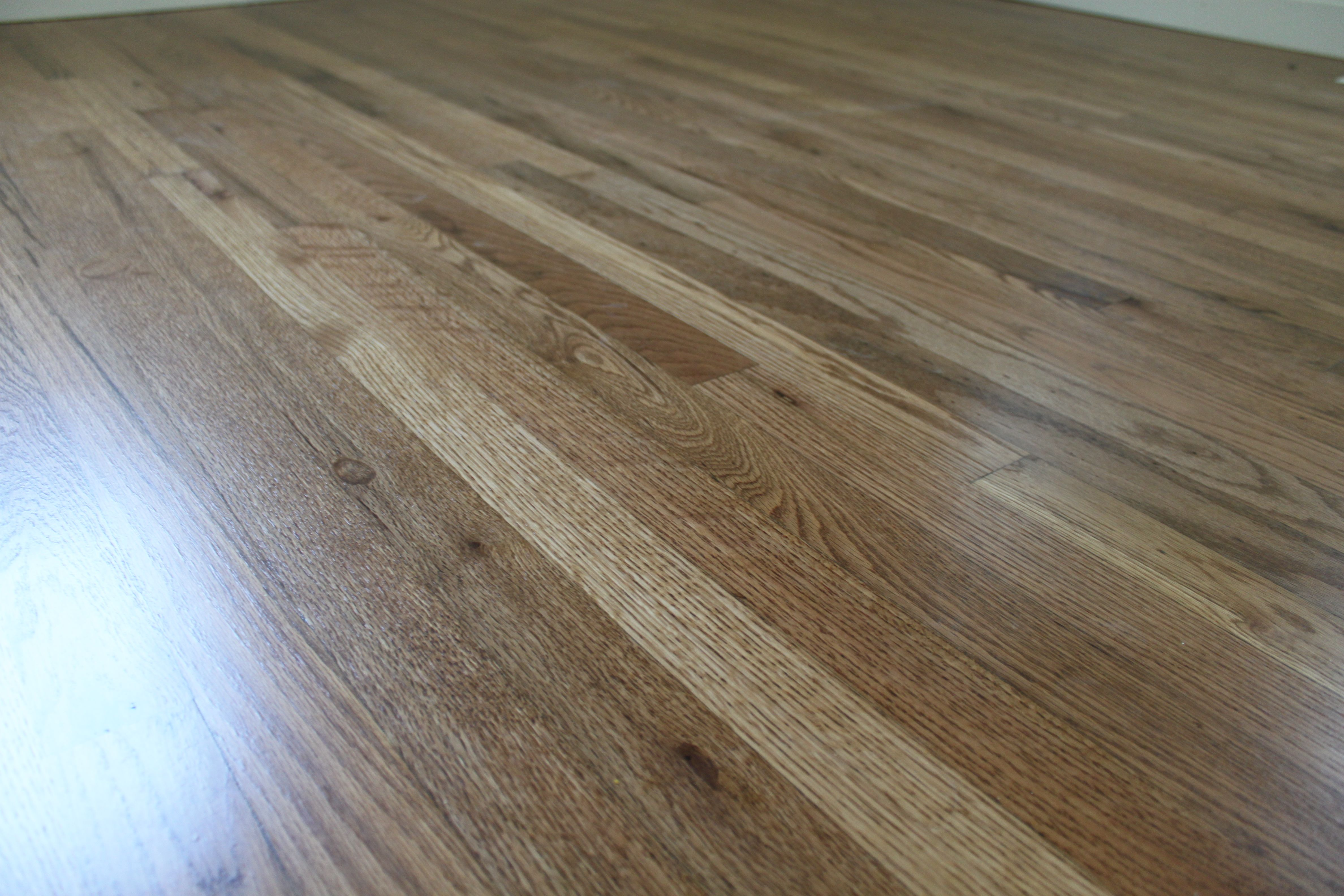Red oak hardwood floor stained Puritan Pine Stain ...