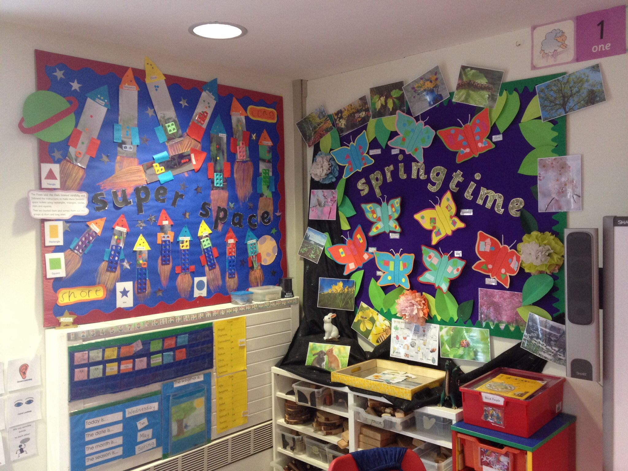 Maths Displays Short Long Shape Numicon Space Rockets And