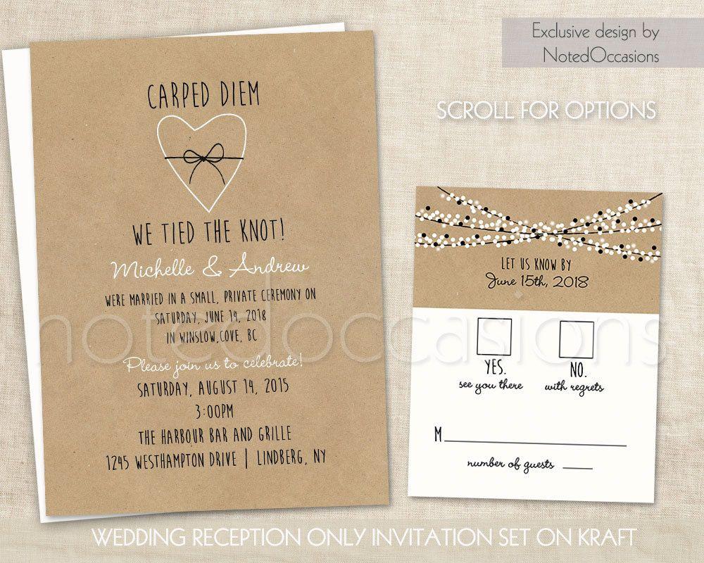 Rustic Burlap Linen Post Wedding Or Elopement Celebration