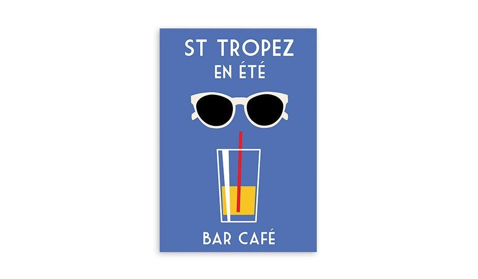 St Tropez en Été Poster