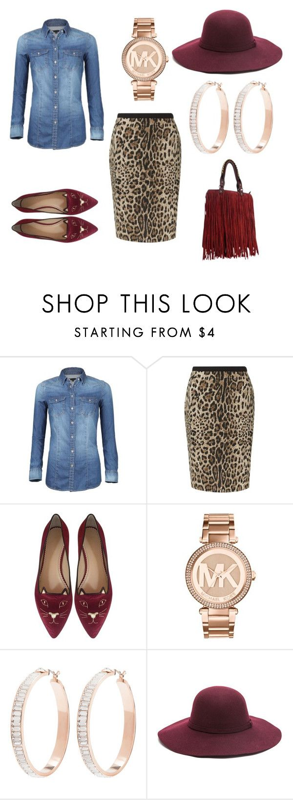 """""""casual friday"""" by keischa-pruden ❤ liked on Polyvore featuring Precis Petite, Charlotte Olympia, Michael Kors and Henri Bendel"""