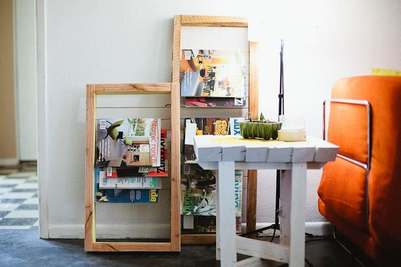 DIY organizing idea: Homemade magazine rack