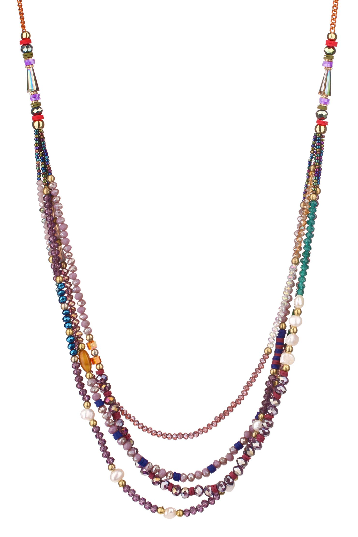Sautoir perles Patricia Violet Clo&Se by MonShowroom en promotion sur MonShowroom.com