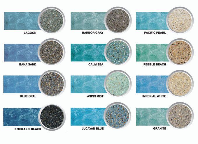 Pool Plaster Colors Sierra Pool Plastering Tile Pool Ideas - Black pearl pebble tec pool bottom