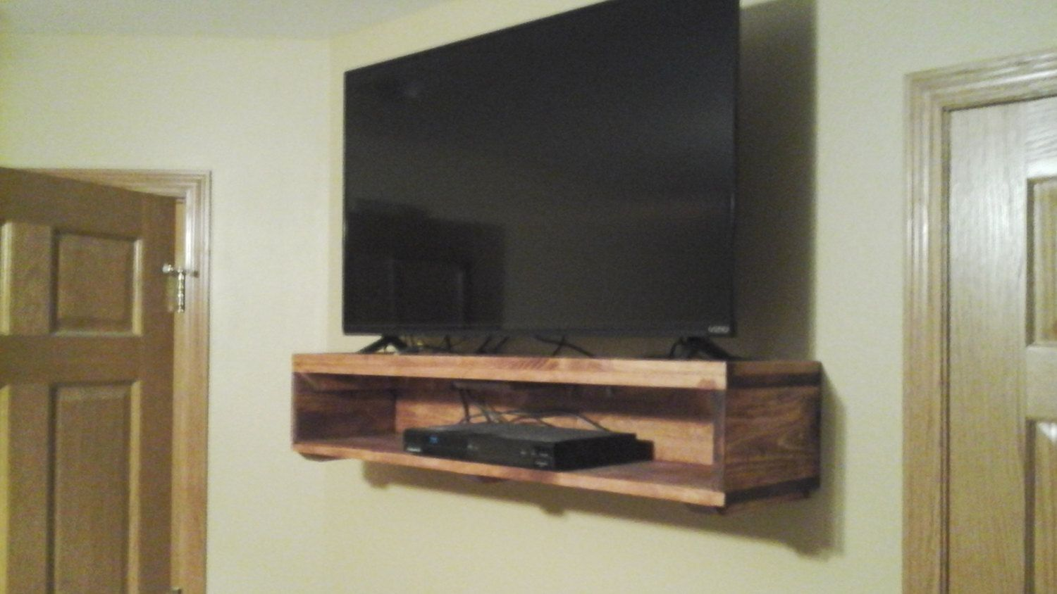 Wall Mount Tv Stand By Colinsrusticdesigns On Etsy Tv Mounting