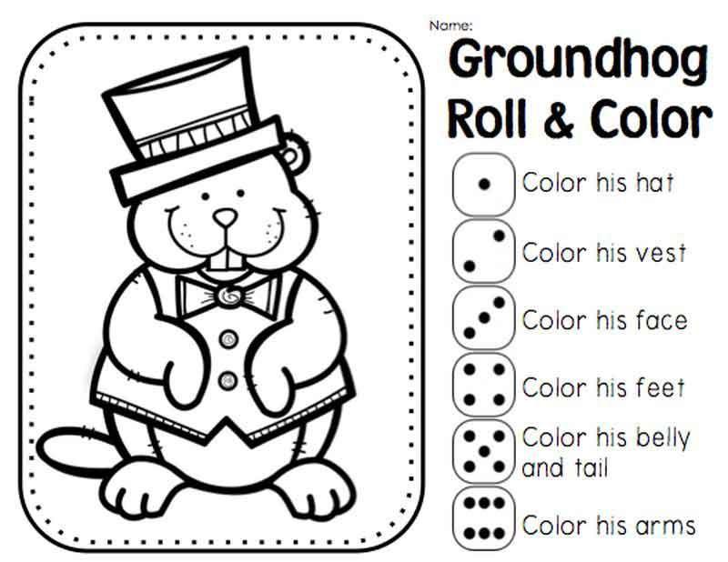 Groundhog Day Coloring Worksheets Kindergarten Groundhog Day
