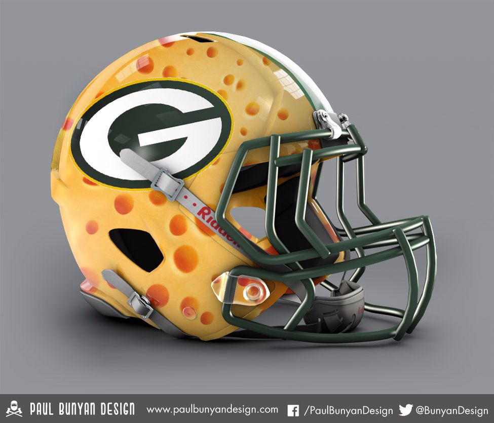Check Out More Awesome Unofficial Alternate Nfl Helmets Football Helmets Nfl Football Helmets Green Bay Packers Fans