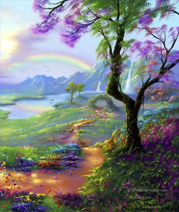 Oil Paintings of 5 fantasy landscape Jim Warren 13 ...
