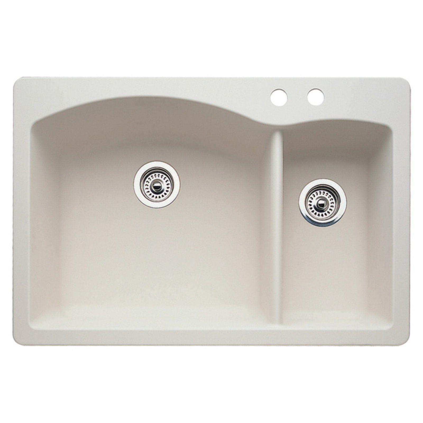 Blanco Diamond 22 In Double Basin Drop In Undermount Kitchen