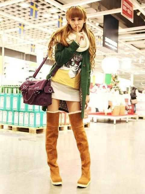 Shoes For Women Snow Boots Flat Heel Over The Knee Boots More Colors