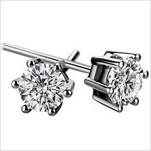 925 sterling silver earrings wholesale Hearts and Arrows Swiss Diamond earrings earrings six claw earrings Hot  ,925 silver jewelry lowest price shop at www.costwe.com