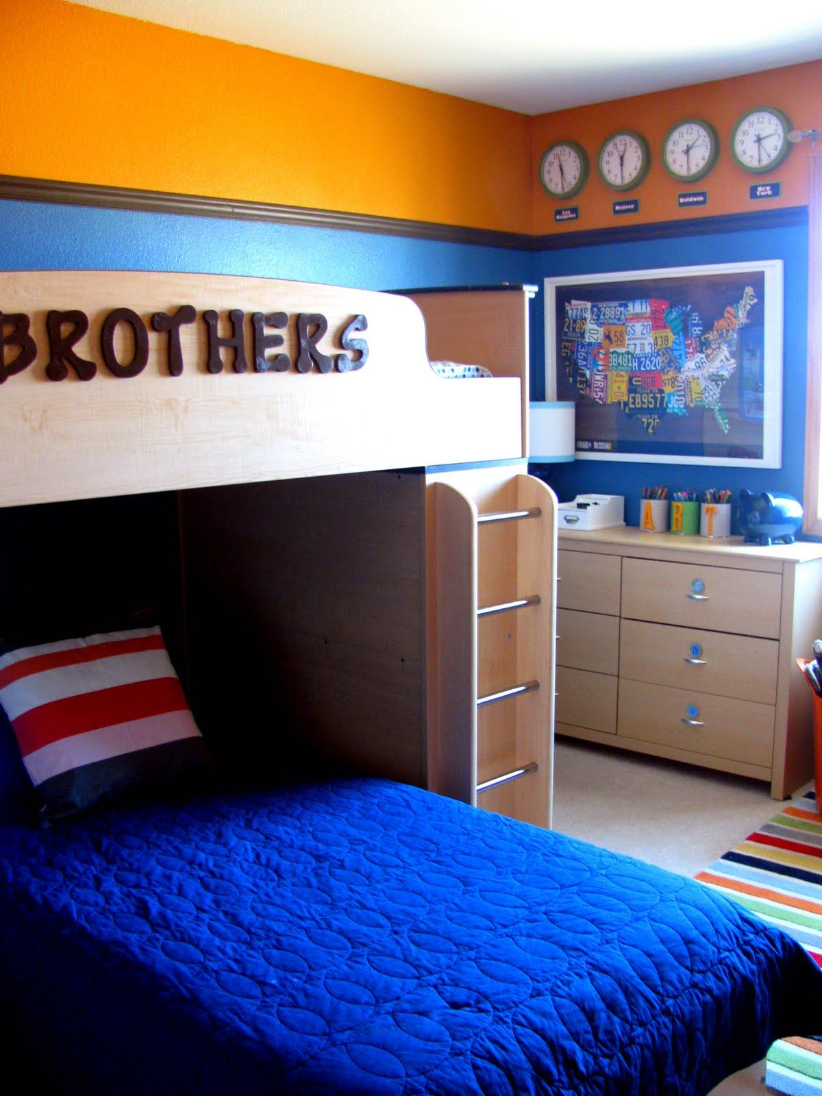 Boys Room Paint Ideas I Like The Way The Bed Says Brothers Very Cute  Home Sweet Home