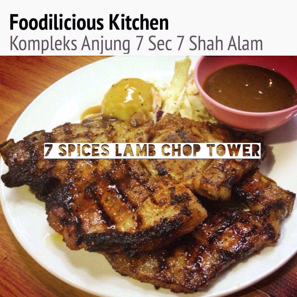 7 Spices Lamb Chop Tower (Double Lamb Chop) RM25.90  #7spices #lambchop #tower #doublelambchop #foodiliciouskitchen #makansedap #affordable #halal #westernfood #shahalam #recommended on #tripadvisor #jjcm #nstp #kosmo