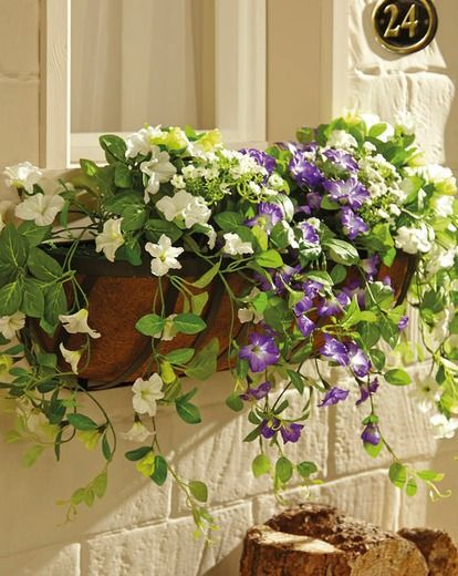 Artificial Petunia Window Box Available From Wwwhouseofbathcouk