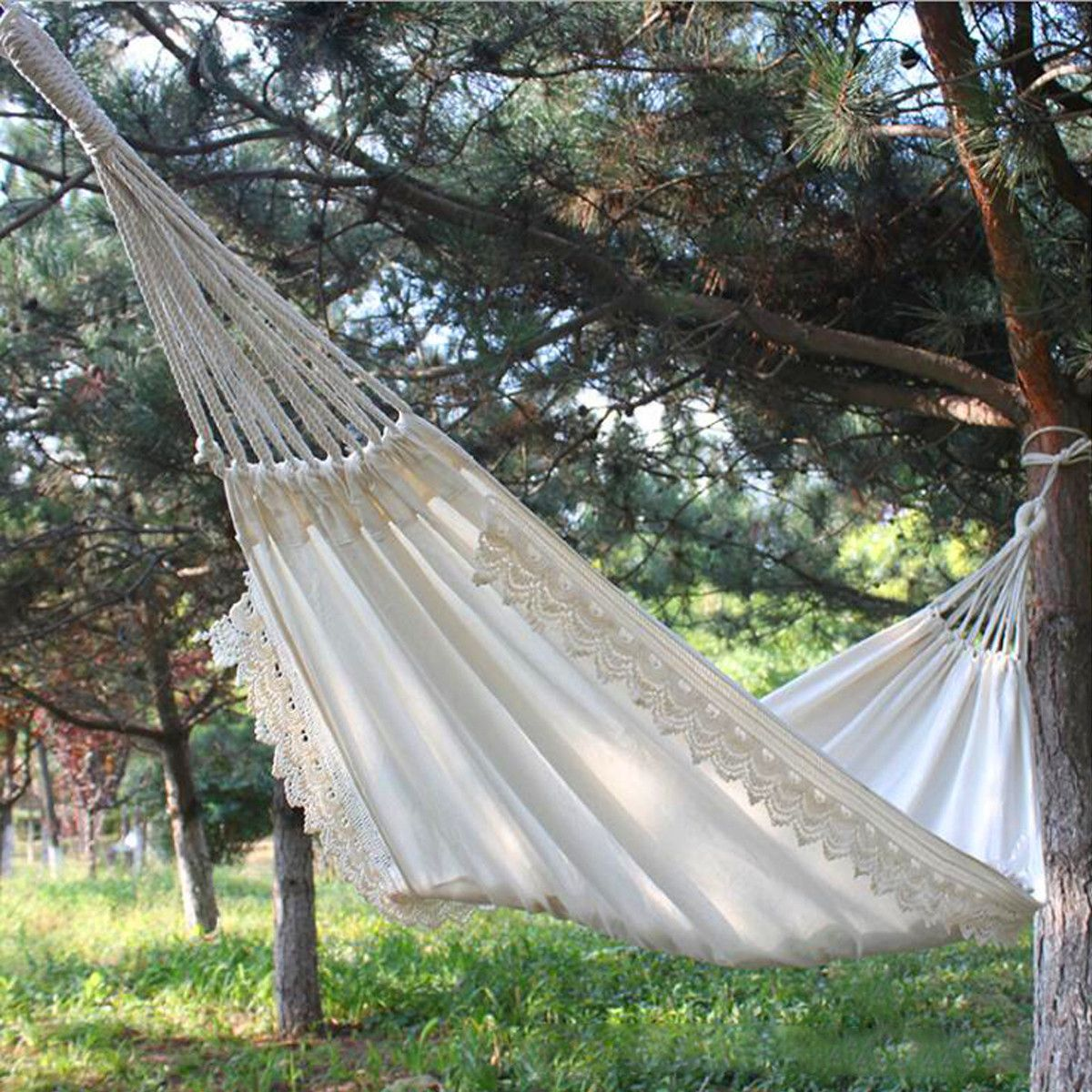 Sold 4197446154 Items Outdoor Camping Hammock Swing Safety Portable Hanging Chair Pure White Romantic Lace For Travel Hiking Garden Hammock Swing Hammock Garden Swing Hammock