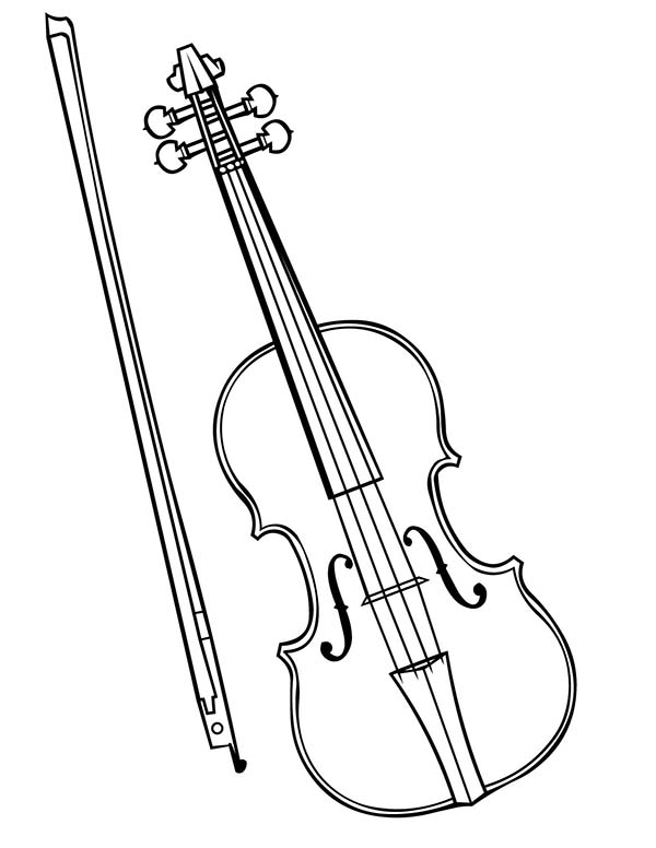 Violin Is A Musical Instruments Coloring Pages Bulk Color Musical Instruments Drawing Violin Music Coloring