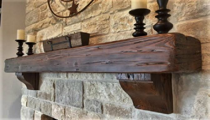 Rustic Walnut With Corbels Rustic Level 6 Reclaimed Wood Mantel Fireplace Mantel Shelf Rustic Fireplace Mantels