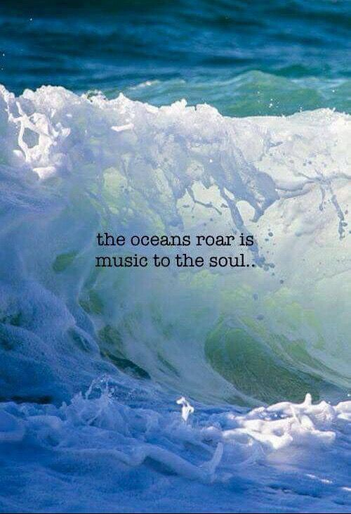 Image result for the ocean's roar is music to the soul