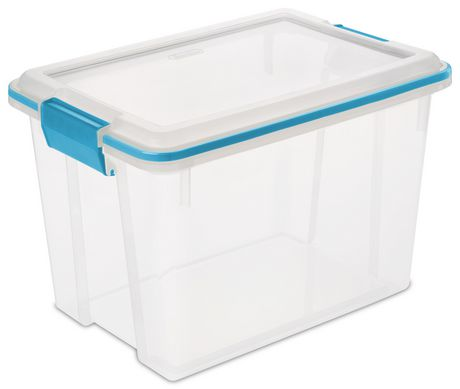 Sterilite 19 Liter Clear Gasket Box Clear With Images
