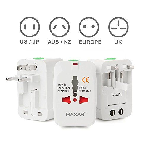 Maxah Mx Uc1 Surge Protector All In One Universal Travel Wall Charger Ac Power Au Uk Us Eu Plu Universal Travel Adapter Universal Plug Adapter Universal Travel