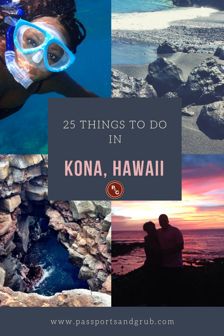 Looking for things to do in Kona Hawaii? Kona, Hawaii offers fun for the entire family, a girls trip or a romantic getaway. With sunshine nearly every day, The island of Hawaii offers a variety of places to explore, including some of Hawaii's most incredible natural wonders and historic sites. The beaches of Kona are made out of pitch black sand, crystal green sand, coarse white sand, coral, and even out of newly formed lava rocks! Things to do in Kona | Hawaii | Big Island #konahawaii