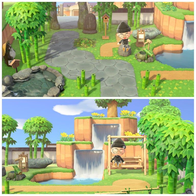 Photo of Made a little Japanese/Zen inspired Park. : AnimalCrossing