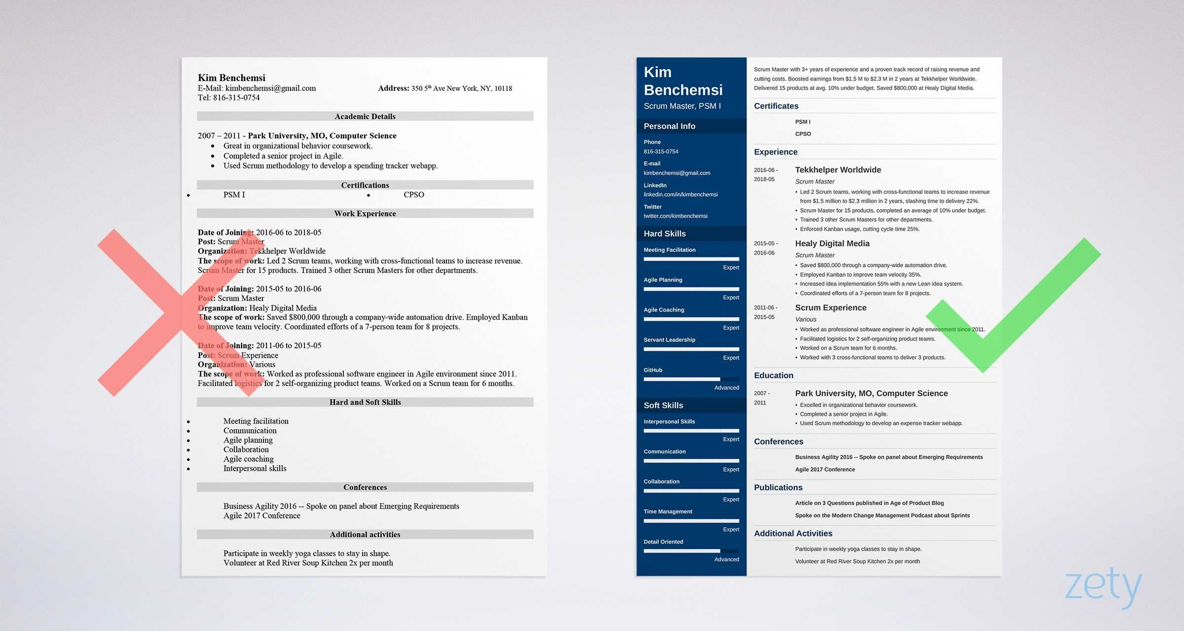 Scrum Master Resume Samples (Template & Guide) Expect to