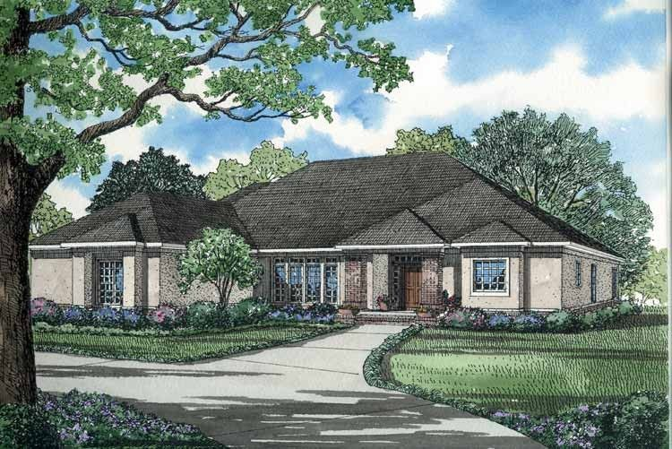 Mediterranean Style House Plan 4 Beds 3 Baths 2951 Sq Ft Plan 17 2740 Mediterranean Style House Plans Craftsman Style House Plans Contemporary House Plans