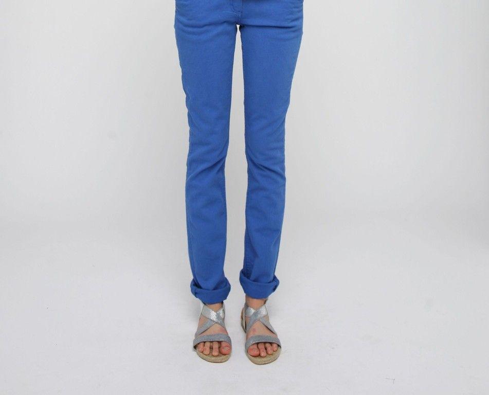 Pantalon slim en sergé de coton bio - L'Herbe Rouge - Jeans, pantalons & shorts Femme