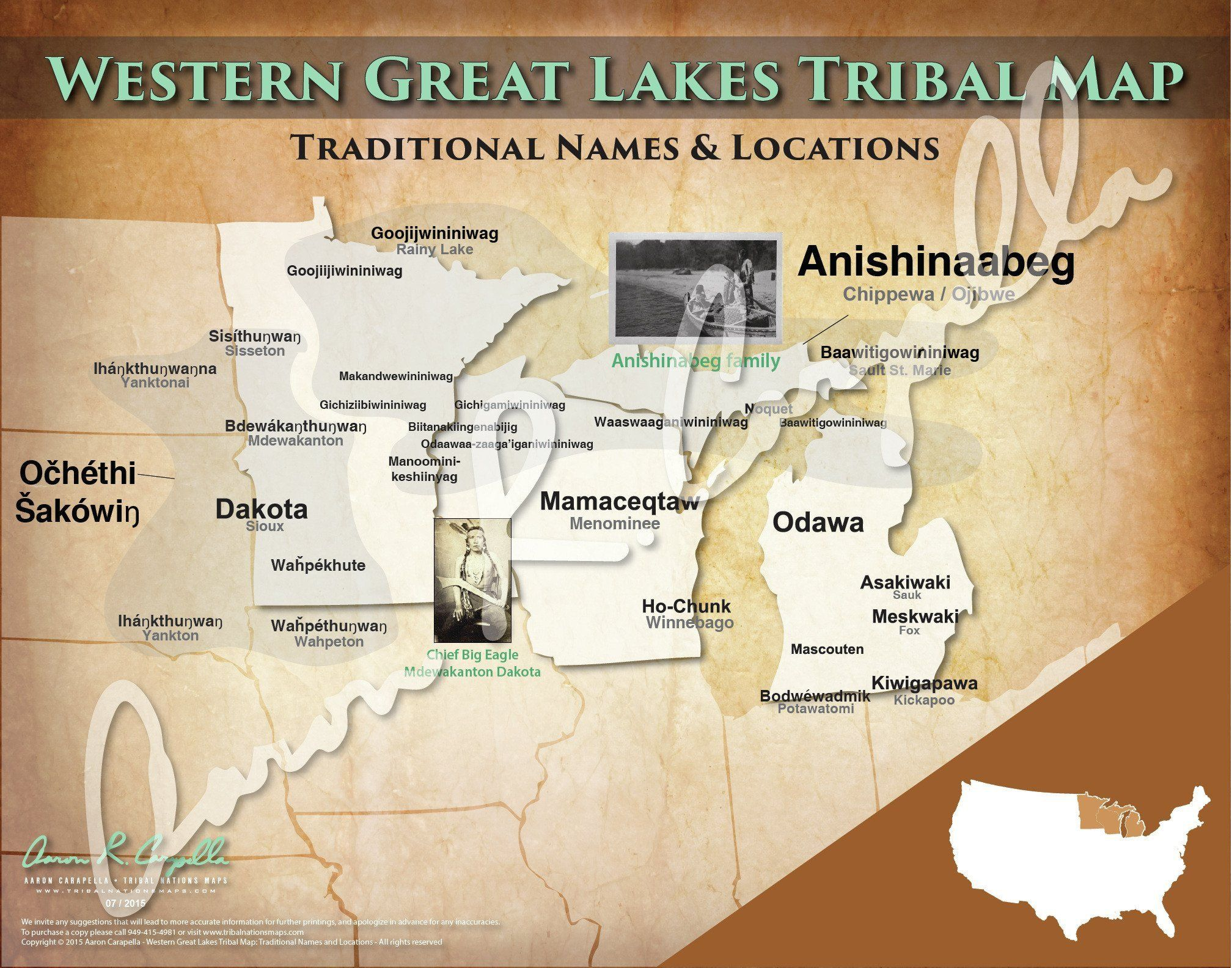 Photo of Western Great Lakes Tribal Nations Map